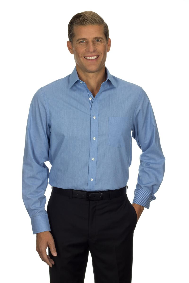 Van heusen dress shirts mens long sleeve feather stripe for Long dress shirts mens
