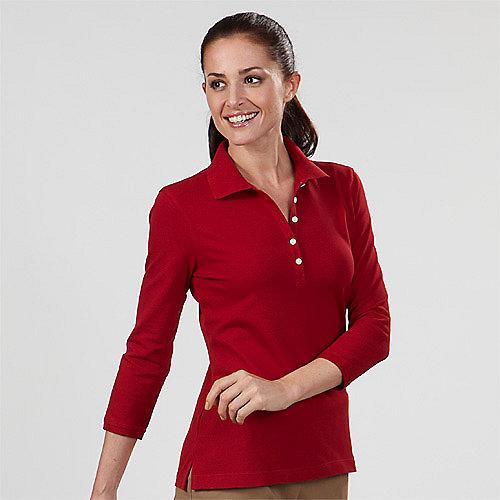 Misses 3 4 Sleeve Polo Shirts